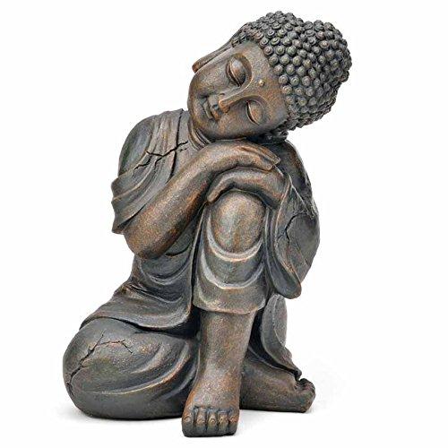 Deko Asien Garten BUDDHA Figur Statue Skulptur FENG SHUI 32 cm Garten NEU