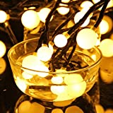 LED String Light, CRAZO 72 Bulbs Rattan Decorative Strip Light 24V 3.6W 2.5M Indoor Fairy Starry Light 5M IP65 Water Resistant with 8 Mode