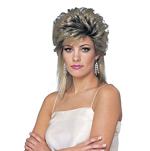 Costume Culture Women's 80's Sprayed Wig, Mixed Blonde, One Size (Best Perm For Thin Hair)