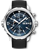IWC Aquatimer Chronograph Blue Dial Black Rubber Mens Watch IW3768-05
