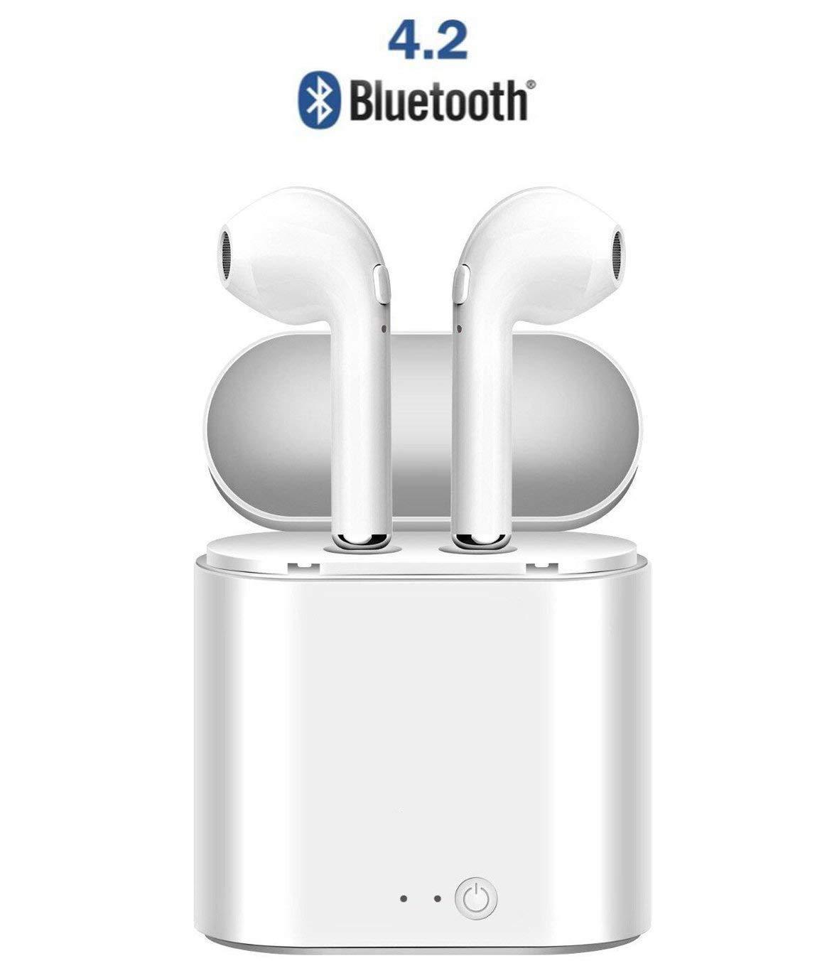 Auriculares inalá mbricos Bluetooth, auriculares inalá mbricos Auriculares deportivos Bluetooth con caja de carga, auriculares inalá mbricos en la oreja para iPhone de Apple y telé fonos Samsung y Android Uzoll