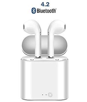 Auriculares inalámbricos Bluetooth, Auriculares Deportivos Bluetooth con Caja de Carga, inalámbricos en la Oreja para iPhone de Apple y teléfonos Samsung y ...