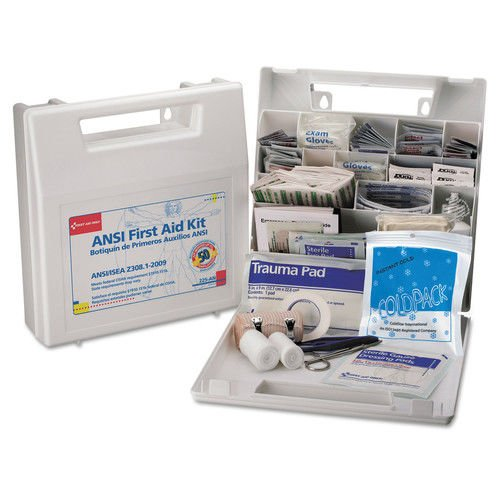 First Aid Kit for 50 People, 195-Pieces, OSHA/ANSI Compliant, Plastic Case