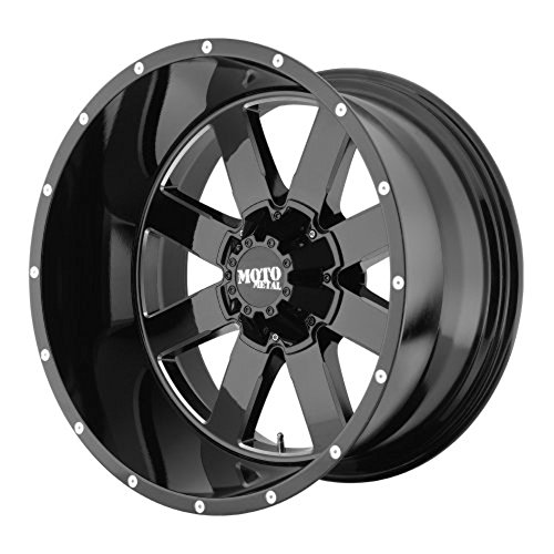 "Moto Metal  MO962 Gloss Black Wheel with Milled Accent Finish (18x9""/8x6.5"")"