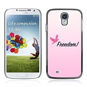 Designer Depo Hard Protection Case for Samsung Galaxy S4 / Pink Message Freedom by icecream design