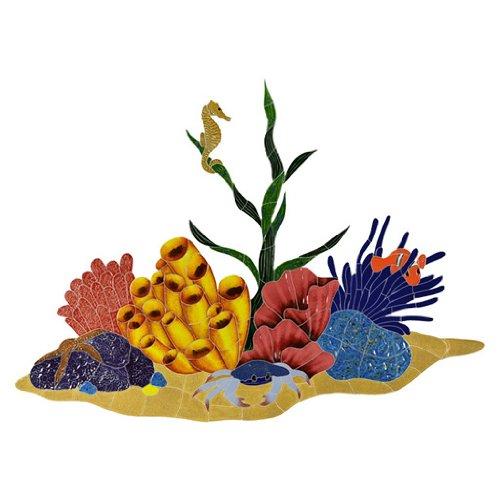 Ceramic Tropical Reef Mosaic