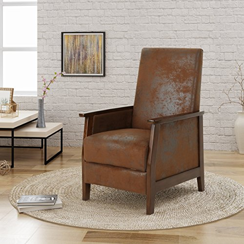 Alex Chair - Christopher Knight Home 304985 Alex Push Back Recliner, Brown