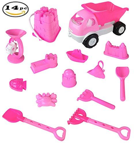 Pink Princess Castle Beach Girls