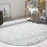 Safavieh Adirondack Collection ADR107T Slate and Ivory Rustic Bohemian Round Area Rug (6' Diameter)