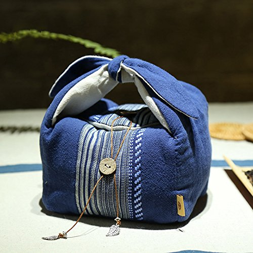 Cheap ZEETOON Japanese Style Portable Travel Tea Set Teaware Storage Bag Use For 1 Teapot 3 Teacup /...