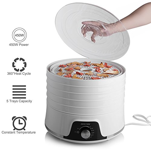 BESTEK Food Electric Fruit and Dryer with Control 5 Trays