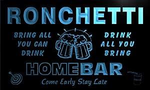 q38172-b RONCHETTI Family Name Home Bar Beer Mug Cheers Neon Light Sign