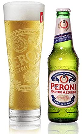 Peroni Pint Glass and Bottle Gift Set (1 x Glass and 1 x 330 ...