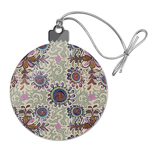 - GRAPHICS & MORE Flowery Fancy Amoeba Pattern Acrylic Christmas Tree Holiday Ornament