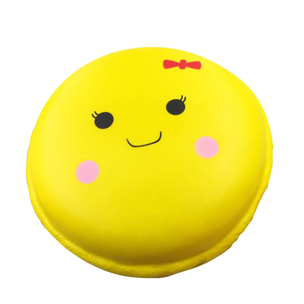 Beautly Stress Relief Slow Adorable Super Sweet Dessert Toy ,Decompression Toy for Adults and Kids,Kill time,Anti-Anxiety,Keep Focus,Relaxing,Soft Squeeze Toys for Friends,Boys and Girls (Yellow) by Beautly