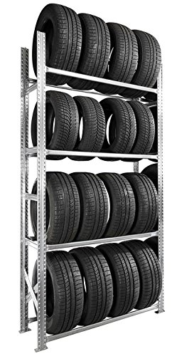 Etagè re pneus voiture kit dé part 4 niveaux 50 cm SETAM