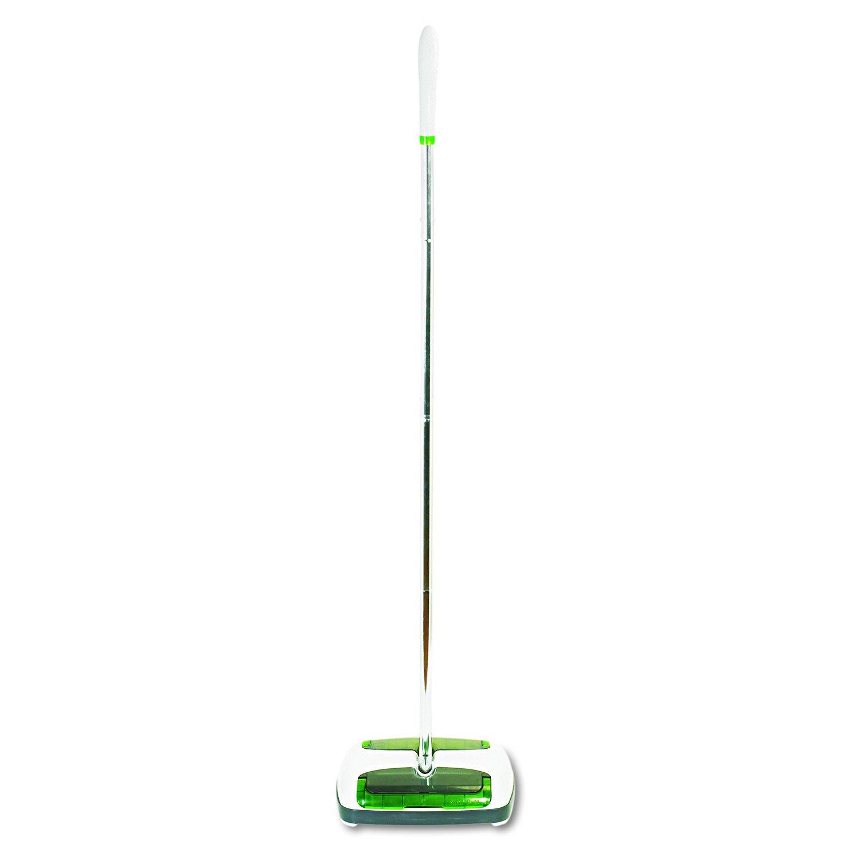 Scotch-Brite M007CCW Quick Floor Sweeper, Rubber Bristles, 42'' Aluminum Handle, White