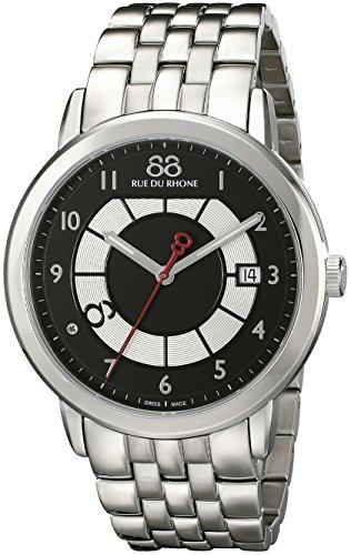 88-Rue-du-Rhone-Mens-87WA140030-Double-8-Origin-Analog-Display-Swiss-Quartz-Silver-Watch