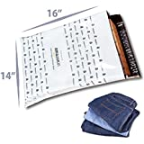 Dynaflex Amazon.in Branded Economy Polybag with Document Pouch (Size -16 Inches X 14 Inches, Count - 100 Polybags)