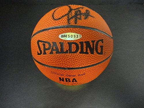Juwan Howard Autographed Basketball - Mini Spalding BAE 50931 - Upper Deck Certified - Autographed Basketballs