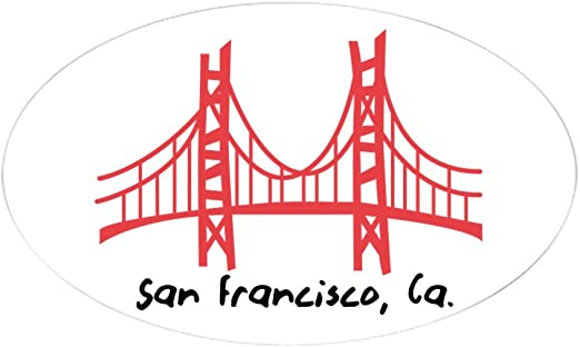 San Francisco America Country City Silhouette Registration Plate Car Decoration Stainless Steel Accessory