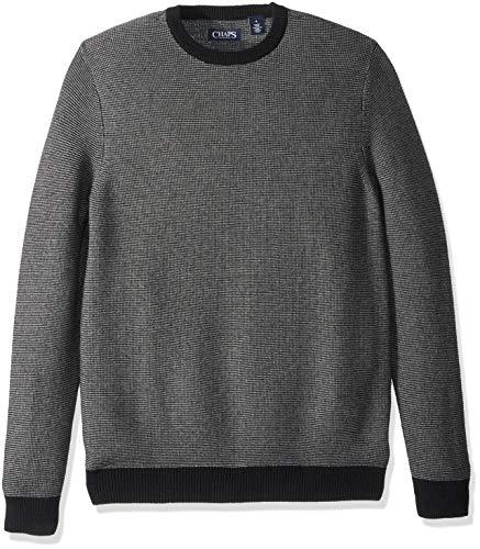 Chaps Men's Classic Fit Cotton Crewneck Sweater, Black Multi, ()