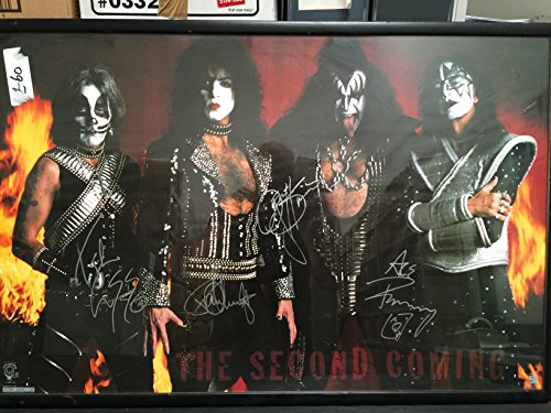 Kiss Gene Simmons Paul Stanley and band original signed vintage poster