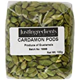 JustIngredients Cardamom Pods Green Loose 100 g (Pack of 2)