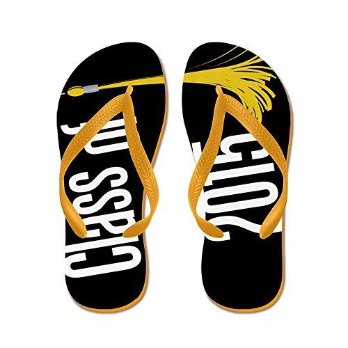 CafePress Graduation Class Of 2015 Flip Flops - Flip Flops, Funny Thong Sandals, Beach Sandals Orange
