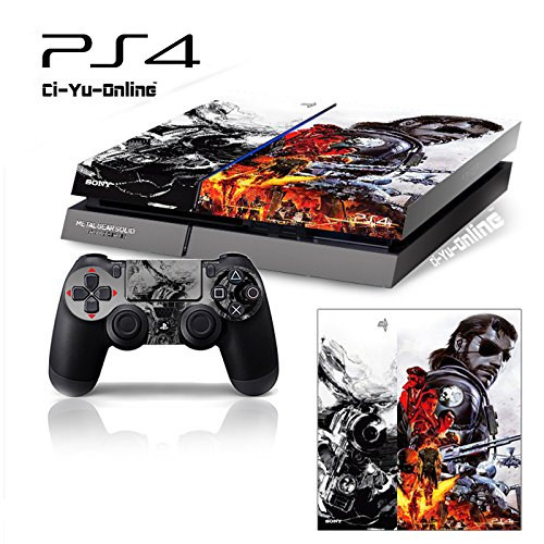 Ci-Yu-Online VINYL SKIN [PS4] Metal Gear Solid V: The Phantom Pain #5 Whole Body VINYL SKIN STICKER DECAL COVER for PS4 Playstation 4 System Console and Controllers
