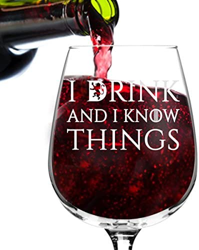 Drink Know Things Wine Glass