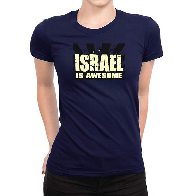 58cd0167d Amazon.com: Idakoos Israel is Awesome Women T-Shirt: Clothing
