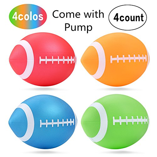 "Small Toddler Football Mini Cute American Football for Kids Toy,Bouncy and Soft 7.5""Inflate Christmas Gift 4Pcs Football Bouncy Balls"