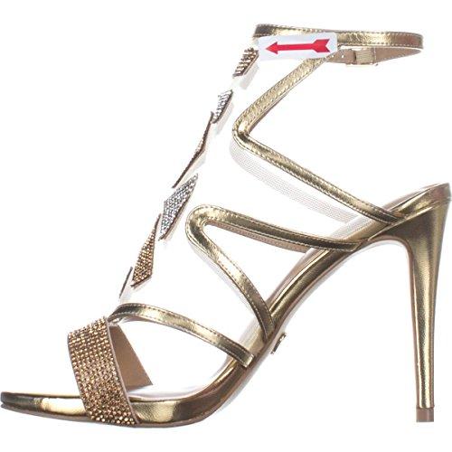 Thalia Sodi Womens Regalo Fabric Open Toe Special Occasion Ankle Strap Sandals, Champagne, 7.0 from Thalia