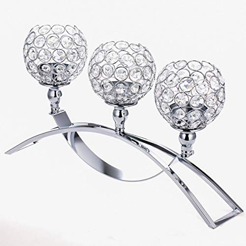ManChDa Valentines Gift Crystal Candle Holders Candelabra with