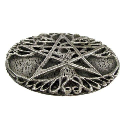 Dryad Design Pewter Tree Pentacle Wiccan Ritual Altar Plate Tile Paten by Dryad Design
