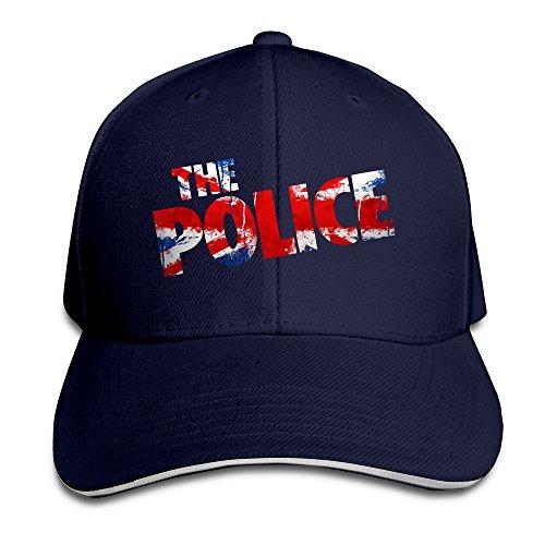 [ULUZUS Men's The Police LOGO UK Flag Snapback Hat] (Cheap Police Hats)