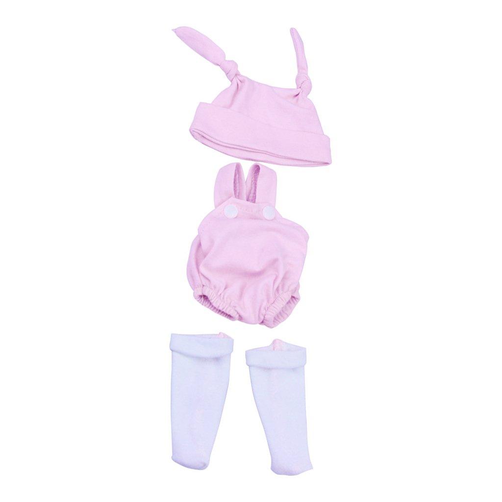 magideal lovelyピンクウサギの衣類10 inch 11inch reborn baby girl