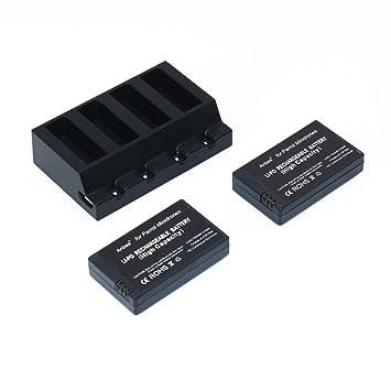 Anbee 3.7v 700mAh LiPo Batería 2 Piezas + Cargador Paralelo para ...