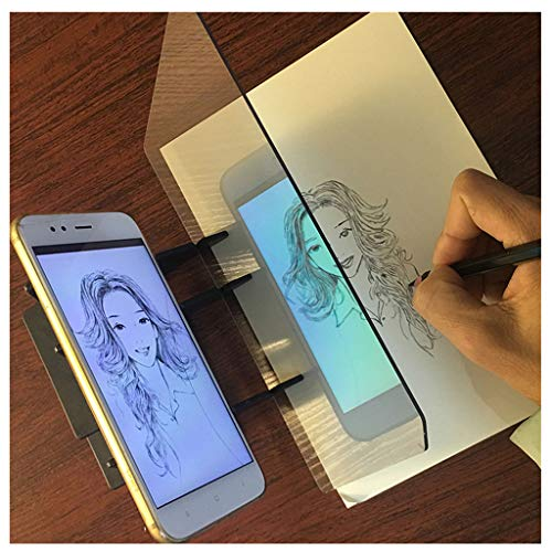 ErYao Portable Tracing Board Stencil Board, Drawing Sketching Optical Painting Drawing Board, PMMA Lens Sketch Wizard,Sketching Tool, Sketch Drawing Board, for Kids and Beginners (Clear, 1 Set)