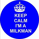 milkman 12 of ROYAL BLUE Edible cupcake cake toppers (38mm - 1.5inch) pre cut - ready to use wafer paper discs by The Lazy Cow