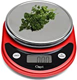 Ozeri ZK14-R Pronto Digital Multifunction Kitchen and Food Scale, Red