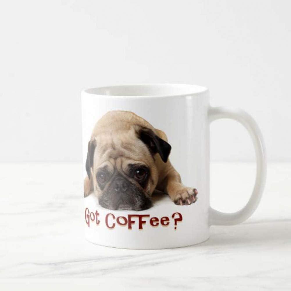 N/ A Cute Dog Pug Lovers Cup - 11OZ Coffee Cup - un Buen Regalo para Amigos, empleados, Jefes, Padres, Novios o Chicas