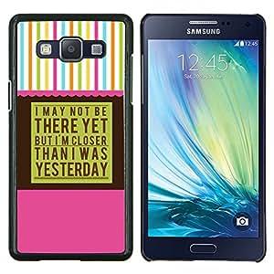 AA Alcohólicos Anónimos- Metal de aluminio y de plástico duro Caja del teléfono - Negro - Samsung Galaxy A5 / SM-A500