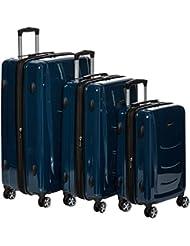 AmazonBasics Hardshell Spinner, 3 Piece Set - 20, 24, 28, Navy Blue