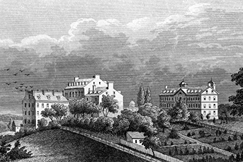 Engraving Reproduction Poster (Photo Print 11x17: Georgetown College D.C., circa 1789)