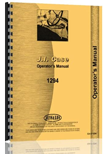 amazon com case 1294 diesel tractor operators manual books rh amazon com Case 860 Operator Manuals Case Repair Manual