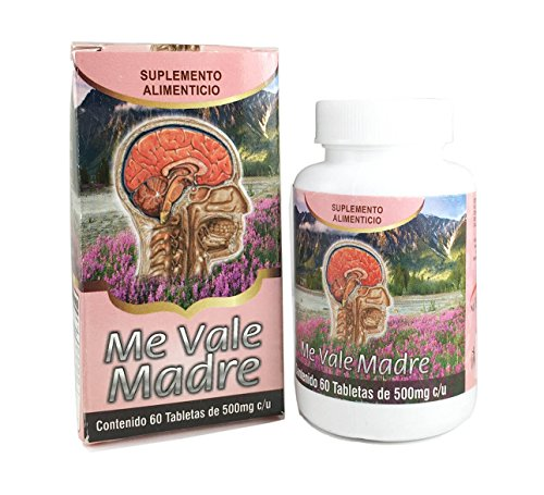 Amazon.com: Me Vale Madre 60 Caps. Headache Migraine & Stress/ Dolor De Cabeza,estres: Health & Personal Care