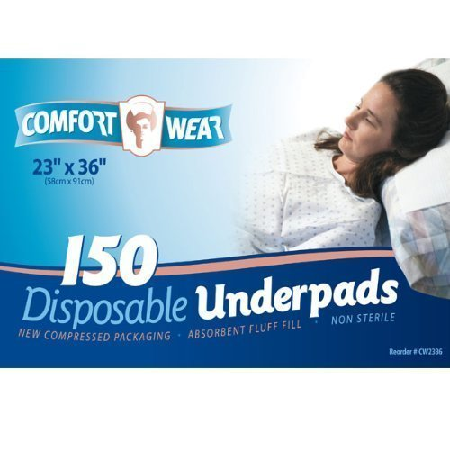 Comfort Wear Disposable Underpads 23x36 in 150 cs