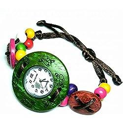 Wooden Watch Analog Quartz Lightweight Handmade Wood Wrist Watch